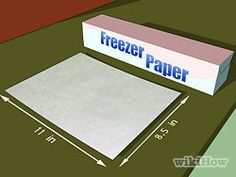 How to Print on Fabric Using Freezer Paper. Printing on fabric allows you to take your crafts projects to a different level! If you don't want to spend money on fabric transfer paper, you can do it yourself with freezer paper, fabric, and. Freezer Paper Transfers, Transfer Paper, Freezer Paper Crafts, Heat Transfer, Freezer Paper Stenciling, Quilting Tips, Quilting Tutorials, Paper Embroidery, Embroidery Patterns