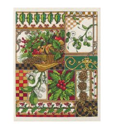 Spruce a focal wall in your living room with a lovely wall display using the Janlynn Winter Montage Counted Cross Stitch Kit 14 x 11. Stitch along the pretty printed design and border the 14 x 11-inch