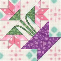 20 Ideas Patchwork Diy Quilt Scrap For 2019 Patchwork Quilting, Barn Quilt Patterns, Pattern Blocks, Patch Quilt, Quilt Blocks, Quilt Kits, Quilting Projects, Quilting Designs, Flower Quilts