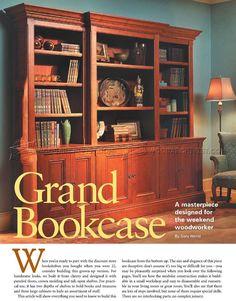#2501 Grand Bookcase Plans - Furniture Plans