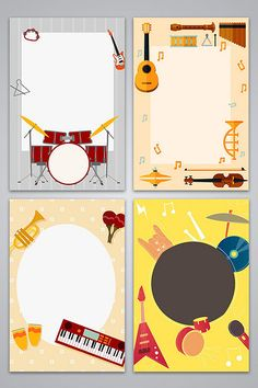 Vector flat music poster background image#pikbest#backgrounds