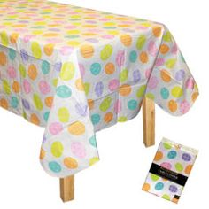 plastic table covers perfect for egg coloring
