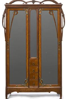 Most Amazing From Art Nouveau Architecture. Art Nouveau is a stream that originates to meet lifestyle needs, it is impossible to live in an art nouvea. Art Nouveau Interior, Art Nouveau Furniture, Art Nouveau Architecture, Art Nouveau Design, Antique Furniture, Interior Architecture, Rustic Furniture, Outdoor Furniture, Modern Furniture