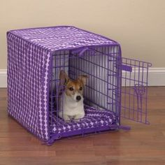 Purple Polka Dot crate cover and bed