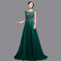 Find More Evening Dresses Information about Princess Bateau Neck Long Tulle Dark Green Evening Dresses Appliqued Beaded High Quality Prom Dresses WZ11,High Quality dress trunk,China dress formal shoes mens Suppliers, Cheap dresses gown from ZYLLGF Offical Store on Aliexpress.com
