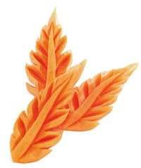 Easy Carrot Leaf Vegetable Carving | Temple of Thai