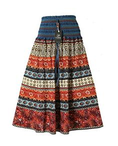 Promithi Women's Bohemian Maxi Cotton Connect Color Striped Long Skirt Ballet Dress (Free Size, Rosered) DEHANG http://www.amazon.com/dp/B010FD1V90/ref=cm_sw_r_pi_dp_RTpWvb07DCH0H