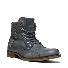 distressed leather faded black regalia combat