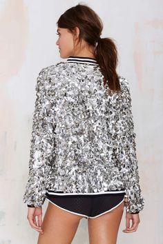 Dress Gallery Stella Paillette Sequin Varsity Jacket  0298d05c912e4