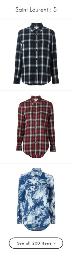 """""""Saint Laurent : 5"""" by bianca-cazacu ❤ liked on Polyvore featuring tops, black, kevin stuart, shirts, shirt top, long sleeve cotton shirts, long sleeve shirts, print shirts, long-sleeve shirt and flannels"""
