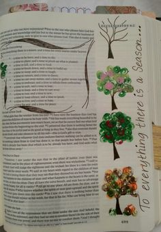 To every thing there is a season, and a time to every purpose under the heaven: Ecclesiastes 3:1 Bible Journaling Art