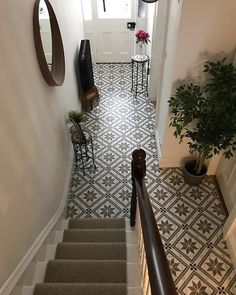 Customer Photos - Customer's Bathroom & Kitchen Pics - Tons of Tiles Hall Tiles, Tiled Hallway, Front Hallway, Hall Flooring, Vinyl Flooring, Hallway Inspiration, Home Decor Inspiration, Narrow Hallway Decorating, Tile Bedroom