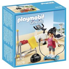 Help Your Child Keep A Collection Of Playmobil Figures Fit With This Fun Gym Play Set