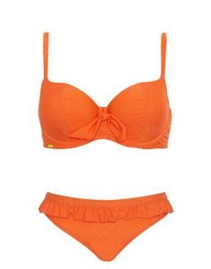 Cleo by Panache Rita Padded Balconnet Bikini Set in Orange Print #SS14SWIM #VivaLaFiesta #figleaves