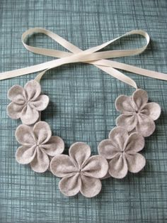 Eco Friendly Felt flower necklace