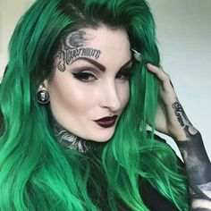 Green Wigs Lace Frontal Ash Blonde Weave Natsuki Wig Best Extensions For Thin Hair Frontal Emerald Green Hair, Green Hair Dye, Green Wig, Green Hair Colors, Hair Colours, Scene Hair, Ombre Hair, Hair Inspo, Hair Inspiration