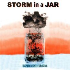 KID SCIENCE:  Make a storm in a jar.  {pacific kid}