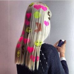 Hair Stencils Are What Your Festival Look Is Missing Exotic Hair Color, Pretty Hair Color, Dope Hairstyles, Unique Hairstyles, Dye My Hair, Hair A, Dreads, Hair Inspo, Hair Inspiration