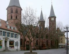 Stiftskirche Kaiserslautern. This is where my dad was baptized and my parents got married.
