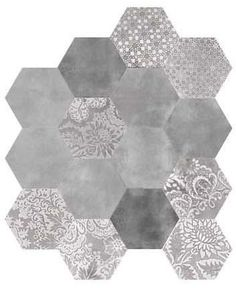 World Tiles - Products - Camille Grey Hexagon 520x600