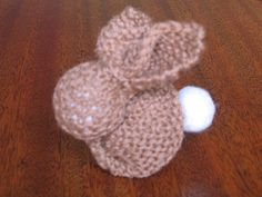 Clever bunny from a knit square. looks like it would work for crochet or fabric square, too!!