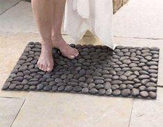 Unique Ways To Personalize Your Front Entrance River Stones Bath Mat And