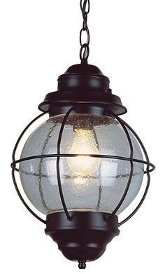 "Tulsa Lantern 19"" High Black Outdoor Hanging Light Fixture -"