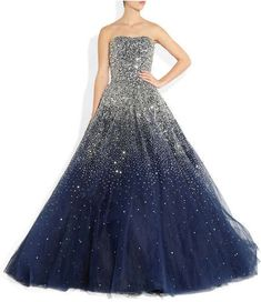 Ball gown, it looks like the night sky!