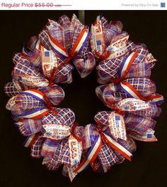 ON SALE Memorial Day Wreaths Patriotic Wreaths by wreathsbyrobin