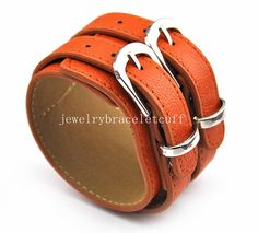 bangle double buckle bracelet leather by jewelrybraceletcuff, $9.00