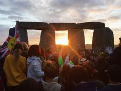Thousands camped out at Stonehenge on Monday night in order to catch the first glimpse of the rising summer sun on 21 June.