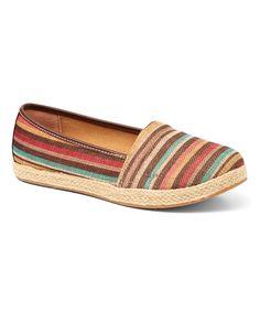 Love this Dark Brown Stripe Franki Flat by b.o.c on #zulily! #zulilyfinds