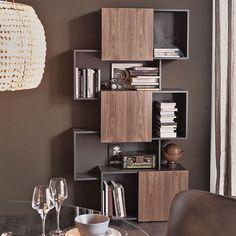 modern bookshelves design view in gallery trendy modern bookshelf unit by with sliding doors modern wall shelf design Creative Bookshelves, Modern Bookshelf, Wall Bookshelves, Bookshelf Design, Modern Shelving, Wall Shelves Design, Corner Shelves, Bookcases, Bookcase Door