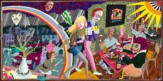 From 'The Vanity of Small Differences' By Grayson Perry. Expulsion From Number 8 Eden Close Grayson Perry tapestry.saw this at Croome Park. Grayson Perry Tapestry, Grayson Perry Art, Little England, Memento, Art Fund, Art Textile, Gcse Art, Fiber Art, Contemporary Art