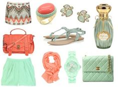 perfect colors. mint & coral? mhmm.