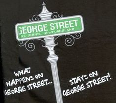 George Street is located in downtown St. It is the number one party spot and consists of the most bars per square foot in all of North America. If you are ever planning a trip to Newfoundland, you should plan it around the. Newfoundland Canada, Newfoundland And Labrador, Ocean Sounds, O Canada, Beautiful Sites, The Kingdom Of God, Back Home, Getting Old, St John's