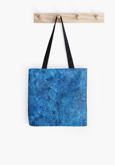 """""""Turquoise zentangles"""" Tote Bag by Savousepate on Redbubble #totebag #bag #pattern #zentangles #scrolls #doodles #turquoise #aqua #blue"""