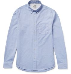ACNE STUDIOS Isherwood Slim-Fit Button-Down Collar Cotton Oxford Shirt. #acnestudios #cloth #casual shirts
