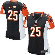 e660f2fac ... Nike NFL Cincinnati Bengals 25 Jason Allen Elite Women Black Team  Colour Jersey Sale ...