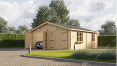 Garáž dvojitá (6 x 6) Garage, Timber House, Shed, Outdoor Structures, Tobias, Matcha, Design, Alternative, Carport Garage