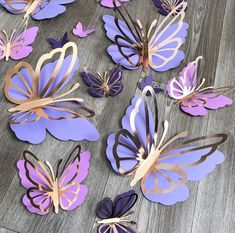 Butterfly Birthday Party, Butterfly Baby Shower, Butterfly Wall Decor, Baby Birthday, Diy Butterfly Decorations, Paper Butterflies, Paper Flowers, Beautiful Butterflies, Balloon Decorations