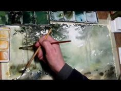 Watercolor Meadow Painting Tutorial - YouTube