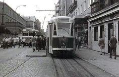 Madrid 1960. Tranvía Fiat PCC serie 1000 en la Calle de Francos Rodríguez