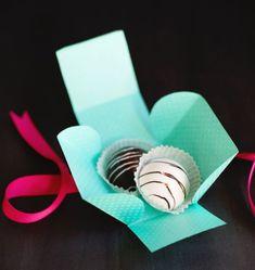 selbstgebastelte Schachtel für Pralinen                                                                                                                                                                                 Mehr