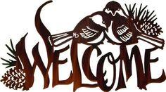 Welcome Chickadees Metal Wall Art   Sturbridge Yankee Workshop