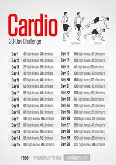 30 Days Cardio Challenge by Neila Rey