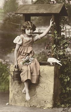 Girl Vintage illustration