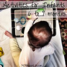 Coming up with activities for young infants is really difficult to do!  I was scrolling through Instagram the other day when I came across this activity that I knew N would love.  It reminds me of …