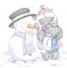 Мишки Тедди со снеговиком
