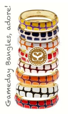 Show your true colors!  Gameday bangles have just arrived. What's your fave? $25 SwellCaroline.com